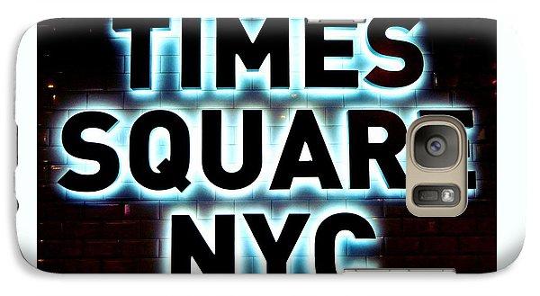 Times Square 4 Galaxy S7 Case by NDM Digital Art