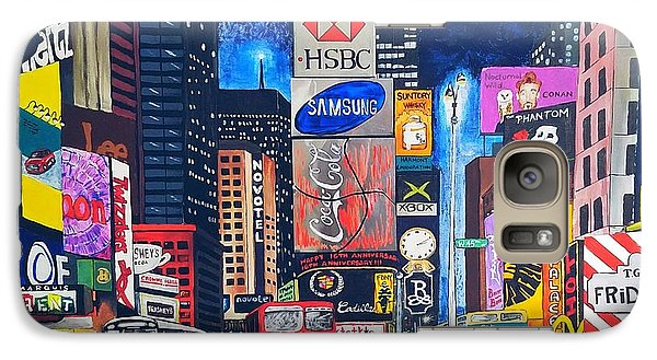Galaxy S7 Case - Times Square by Autumn Leaves Art