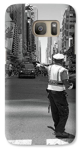 Galaxy Case featuring the photograph Times Square, New York City  -27854-bw by John Bald