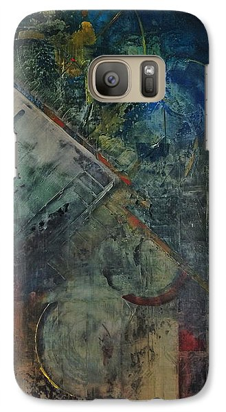 Galaxy Case featuring the painting Timethief by Helen Harris