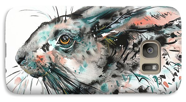 Galaxy Case featuring the painting Timid Hare by Zaira Dzhaubaeva