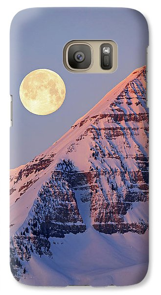 Galaxy Case featuring the photograph Timp Full Moon Composite by Johnny Adolphson