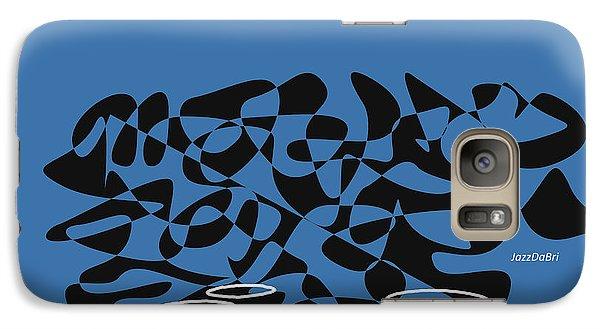 Galaxy Case featuring the digital art Timpani In Blue by Jazz DaBri
