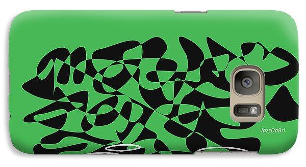 Galaxy Case featuring the digital art Timpani In Green by Jazz DaBri