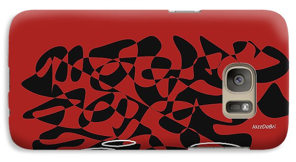 Galaxy Case featuring the digital art Timpani In Orange Red by Jazz DaBri