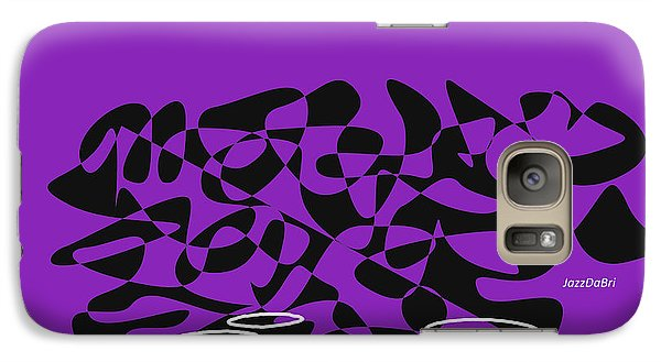 Galaxy Case featuring the digital art Timpani In Purple by Jazz DaBri