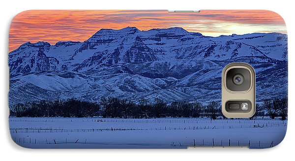 Galaxy Case featuring the photograph Timpanogos Burner by Johnny Adolphson
