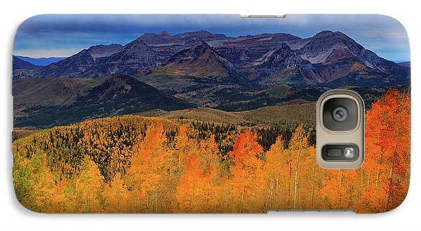 Galaxy Case featuring the photograph Timpanogos With Golden Aspens. by Johnny Adolphson