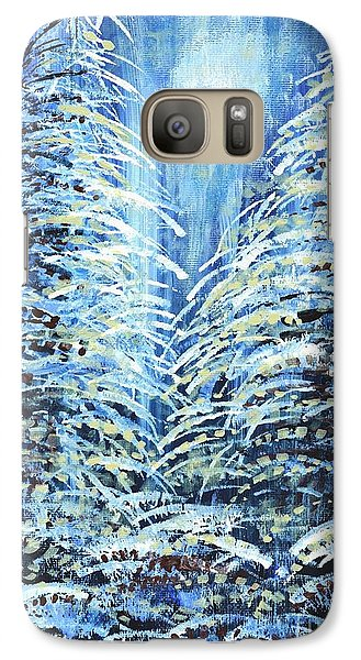 Galaxy Case featuring the painting Tim's Winter Forest by Holly Carmichael