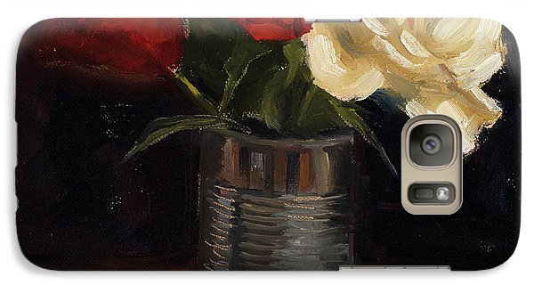 Galaxy Case featuring the painting Tin Can Love by Billie Colson