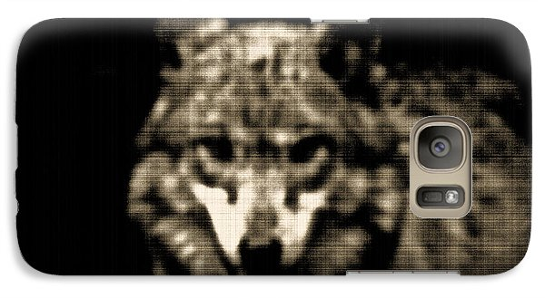 Galaxy Case featuring the photograph Tinted Wolf by Debra     Vatalaro