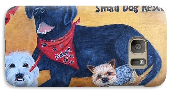 Galaxy Case featuring the painting Tiny Paws Small Dog Rescue by Sharon Schultz