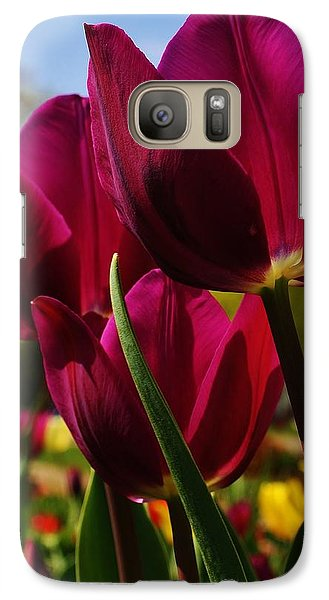 Galaxy Case featuring the photograph Tip Toe Through The Tulips by Bruce Bley