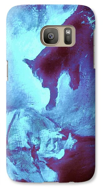 Galaxy Case featuring the painting Tip Toeing On Little Cat Feet by Denise Fulmer