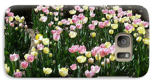 Galaxy Case featuring the photograph Tiptoe Through The Tulips by Helen Haw