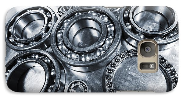 Galaxy Case featuring the photograph Titanium And Steel Ball-bearings by Christian Lagereek
