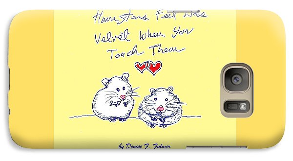 Galaxy Case featuring the drawing Title Page For Hamster Book by Denise Fulmer