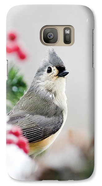 Galaxy S7 Case featuring the photograph Titmouse Bird Portrait by Christina Rollo