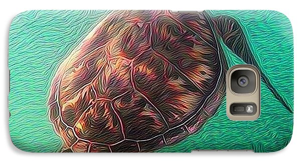 Galaxy Case featuring the digital art Tito The Turtle by Erika Swartzkopf