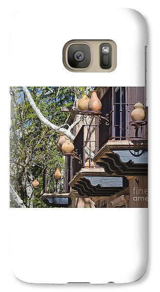 Galaxy Case featuring the photograph Tlaquepaque Balconies by Chris Dutton