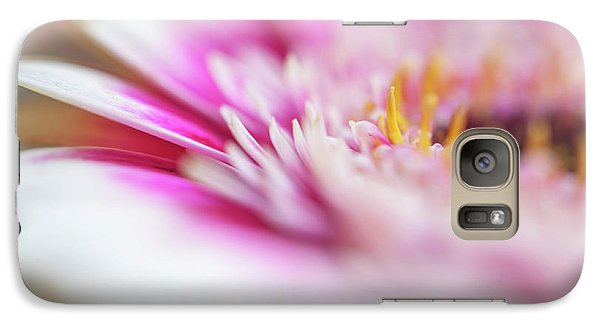 Galaxy Case featuring the photograph To Live In Dream 1. Macro Gerbera by Jenny Rainbow