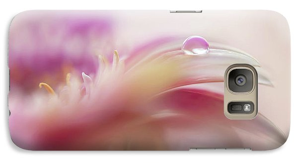 Galaxy Case featuring the photograph To Live In Dream 2. Macro Gerbera by Jenny Rainbow