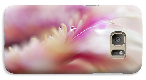 Galaxy Case featuring the photograph To Live In Dream 3. Macro Gerbera by Jenny Rainbow