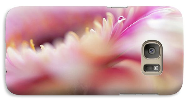 Galaxy Case featuring the photograph To Live In Dream 5. Macro Gerbera by Jenny Rainbow