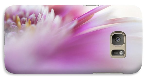 Galaxy Case featuring the photograph To Live In Dream. Macro Gerbera by Jenny Rainbow