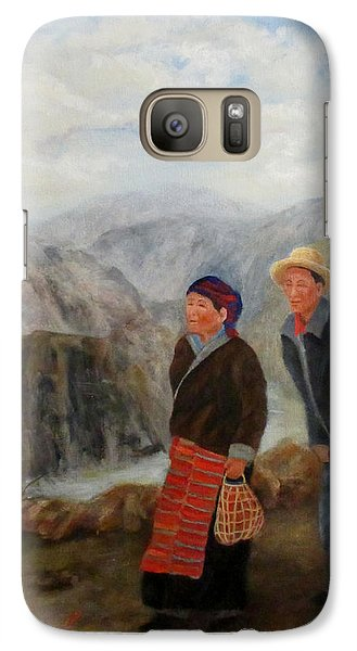 Galaxy Case featuring the painting To Market by Roseann Gilmore