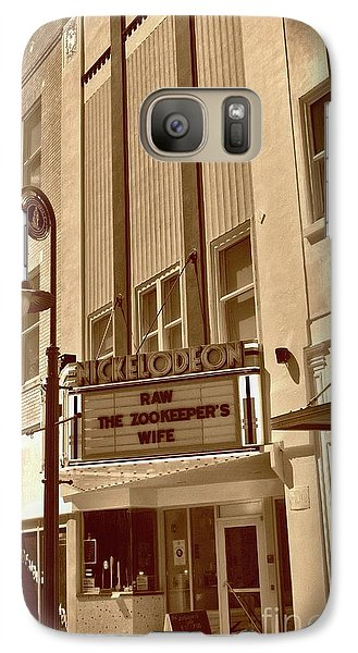 Galaxy Case featuring the photograph To The Movies by Skip Willits