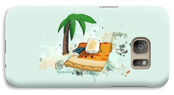 Galaxy Case featuring the digital art Toasted Illustrated by Heather Applegate