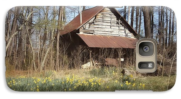Galaxy Case featuring the photograph Tobacco Barn In Spring by Benanne Stiens