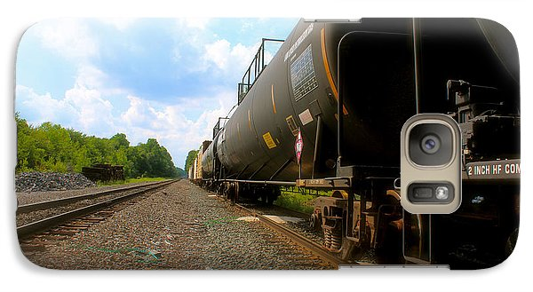 Galaxy Case featuring the photograph Tobyhanna Freight Train by Iconic Images Art Gallery David Pucciarelli