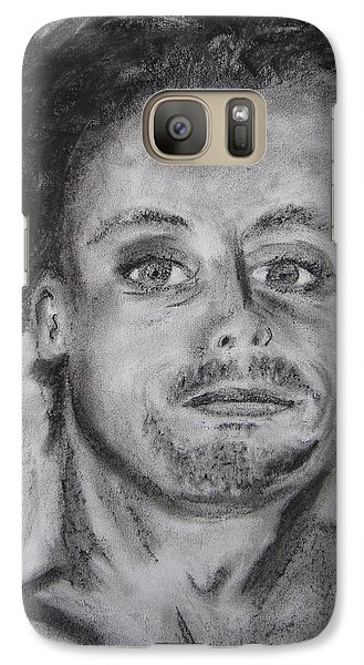 Galaxy Case featuring the drawing Todd by Patricia Cleasby