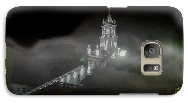 Galaxy Case featuring the photograph Todos Santos In The Fog by Al Bourassa