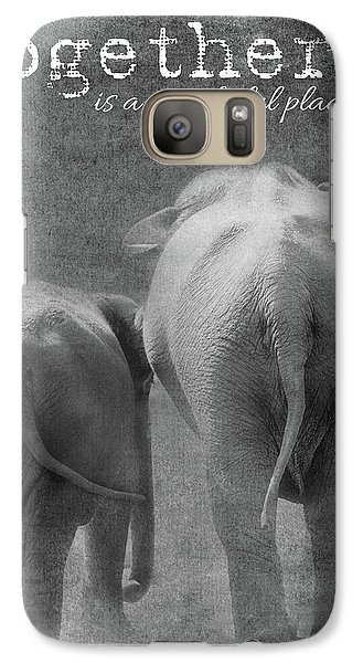 Galaxy Case featuring the photograph Together by Rebecca Cozart