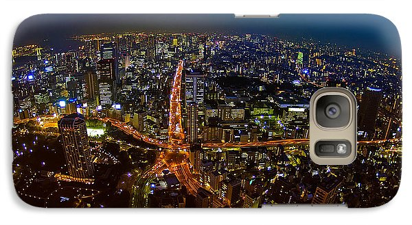Galaxy Case featuring the photograph Tokyo At Night by Dan Wells