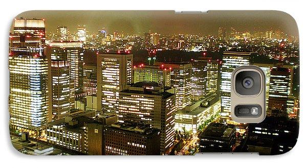 Tokyo Skyline Galaxy Case by Nancy Ingersoll
