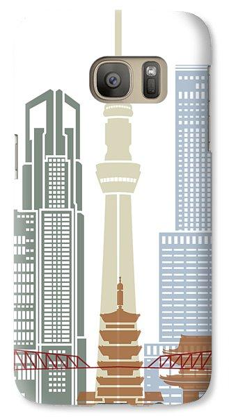 Tokyo Skyline Galaxy S7 Case - Tokyo V2 Skyline Poster by Pablo Romero