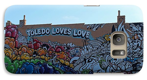 Galaxy Case featuring the photograph Toledo Loves Love by Michiale Schneider