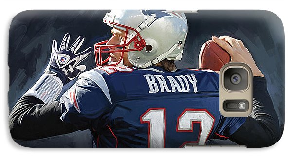 Galaxy Case featuring the painting Tom Brady Artwork by Sheraz A