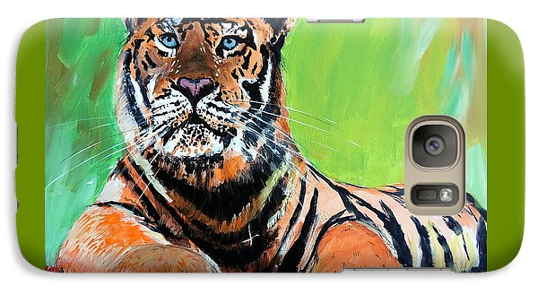 Galaxy Case featuring the painting Tom Tiger by Tom Riggs