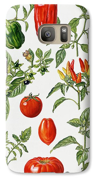 Tomatoes And Related Vegetables Galaxy Case by Elizabeth Rice