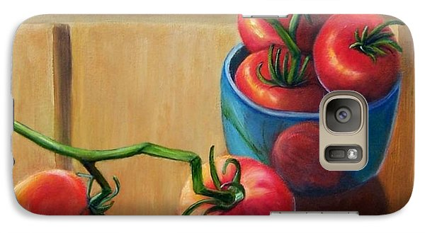 Galaxy Case featuring the painting Tomatoes Fresh Off The Vine by Susan Dehlinger