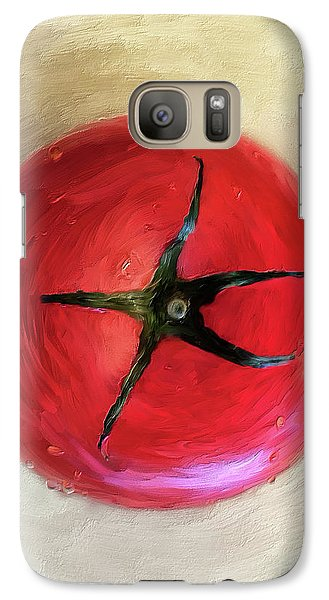 Galaxy Case featuring the digital art Tomato by Lois Bryan