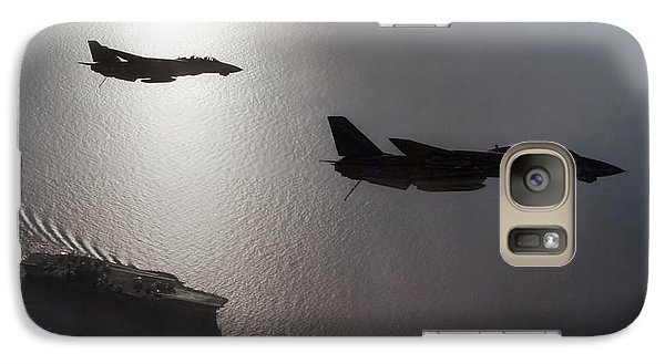 Galaxy Case featuring the photograph Tomcat Silhouette  by Peter Chilelli