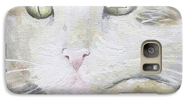 Galaxy Case featuring the painting Tommy by Mary-Lee Sanders