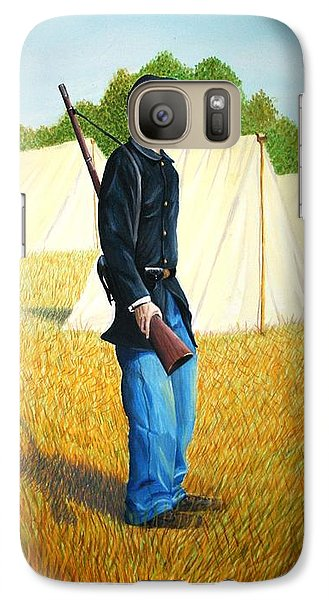 Galaxy Case featuring the painting Too Young by Stacy C Bottoms