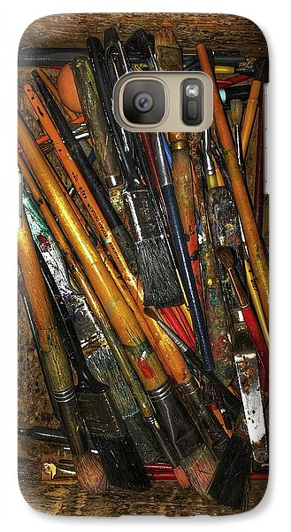 Galaxy Case featuring the photograph Tools Of The Painter by Jame Hayes